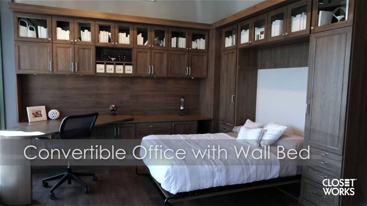 Best Convertible Office With Wall Bed Youtube With Pictures