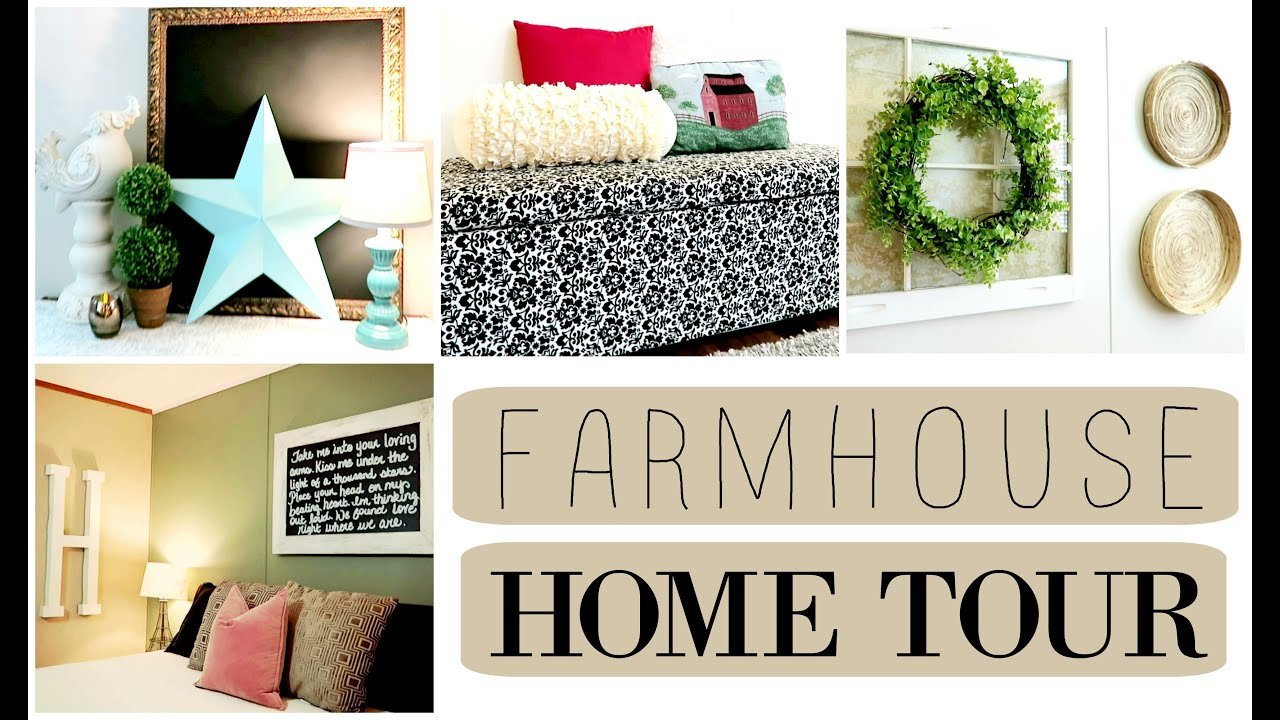 Best Shabby Chic Farmhouse Home Tour Redecorating On A Budget With Pictures