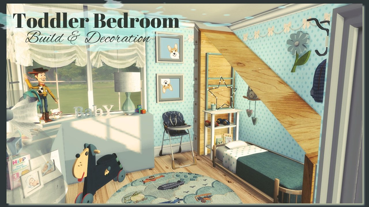 Best Sims 4 Toddler Bedroom Build Decoration Youtube With Pictures