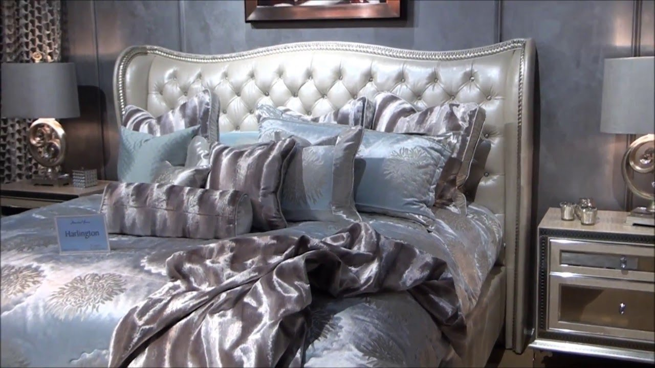 Best Hollywood Swank Upholstered Bedroom Set In Pearl By Jane With Pictures
