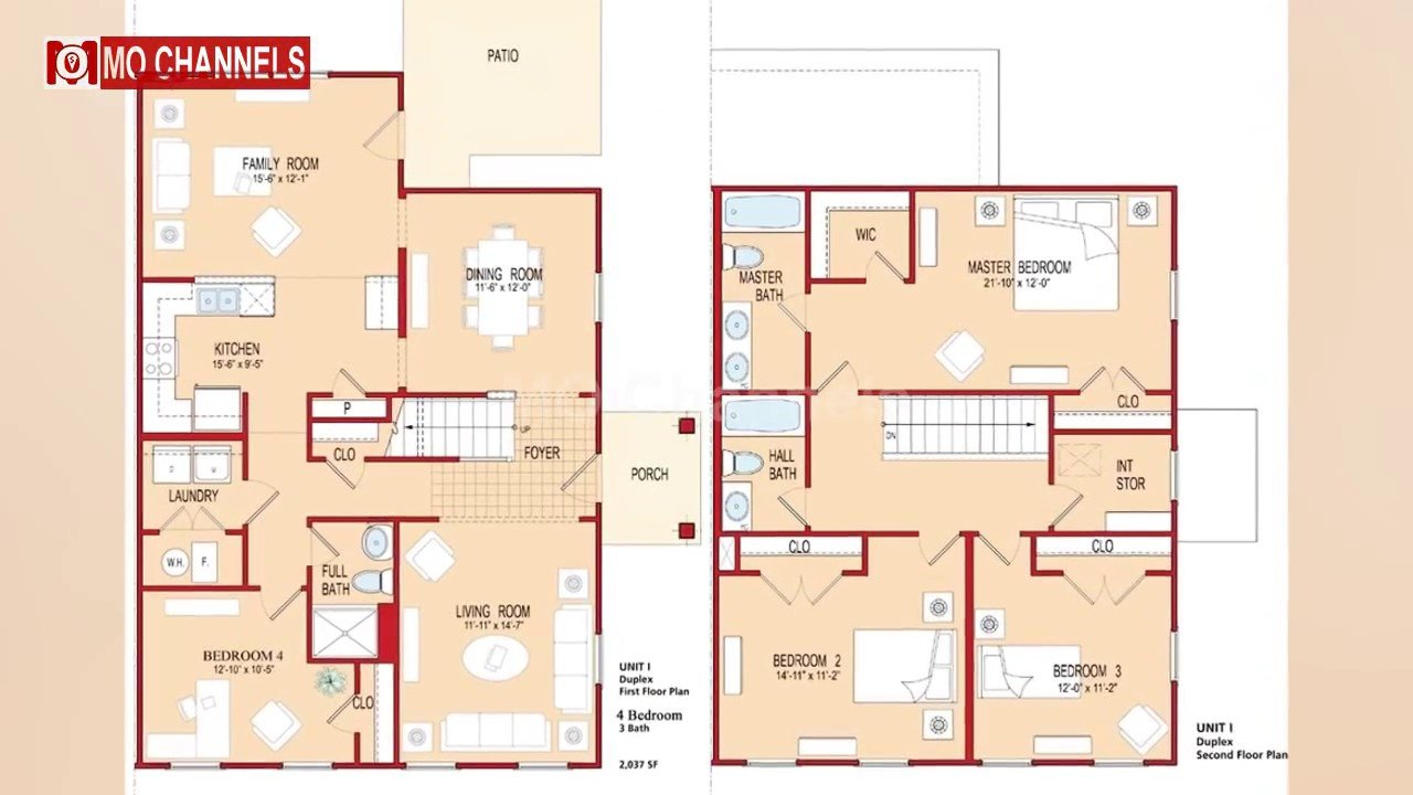 Best 30 Home Design With 4 Bedroom Floor Plan Ideas Youtube With Pictures