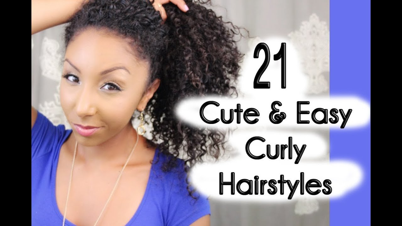 Free 21 Cute And Easy Curly Hairstyles Biancareneetoday Wallpaper