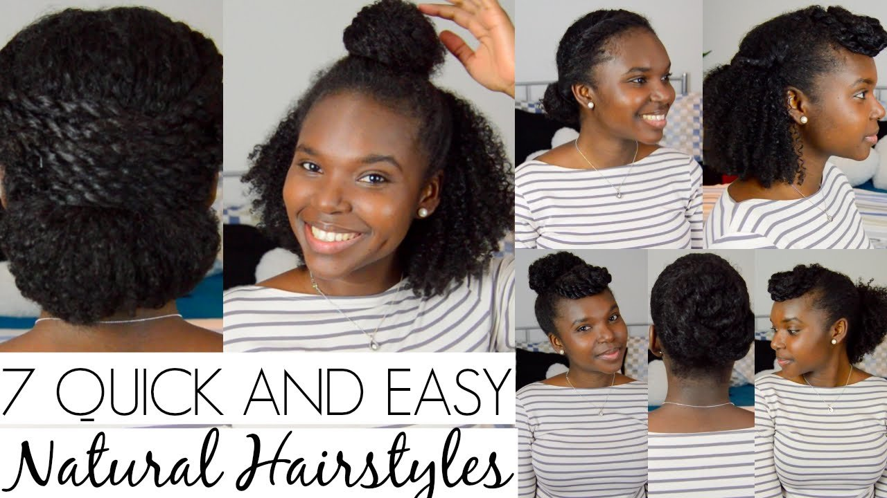 Free 7 Quick And Easy Hairstyles For Natural Hair Youtube Wallpaper