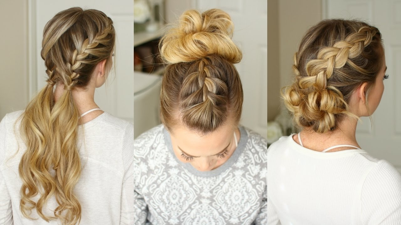 Free 3 Easy Braided Hairstyles Missy Sue Youtube Wallpaper