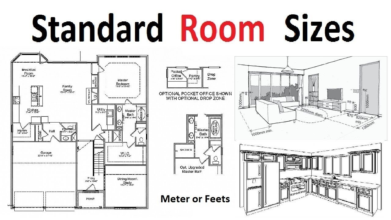 Best Standard Room Sizes For Plan Development Youtube With Pictures