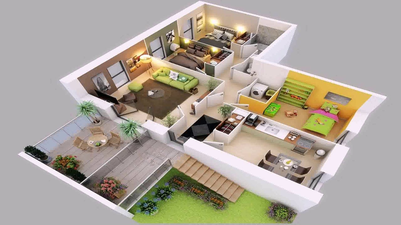 Best 4 Bedroom House Plans 2 Story 3D Youtube With Pictures