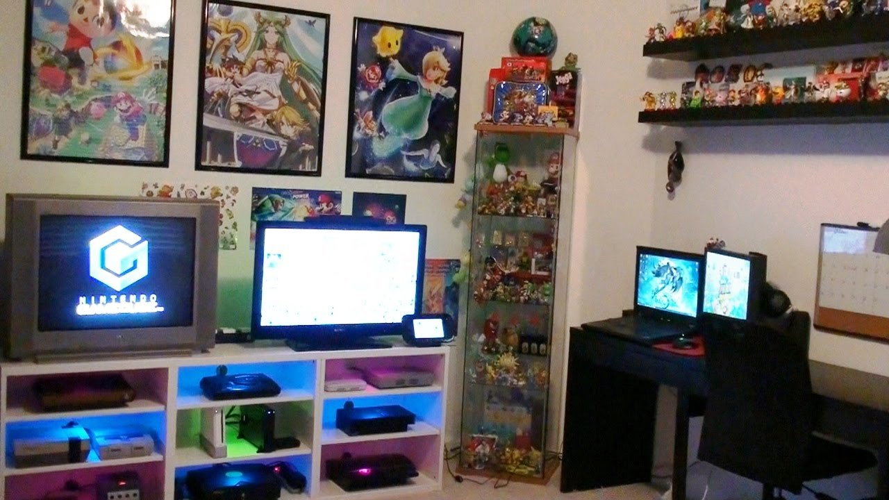 Best Nintendo Gaming Room Setup Tour 2016 Youtube With Pictures