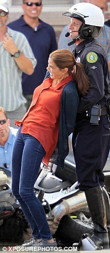 Best Teri Hatcher Arrested By Traffic Police While Filming With Pictures