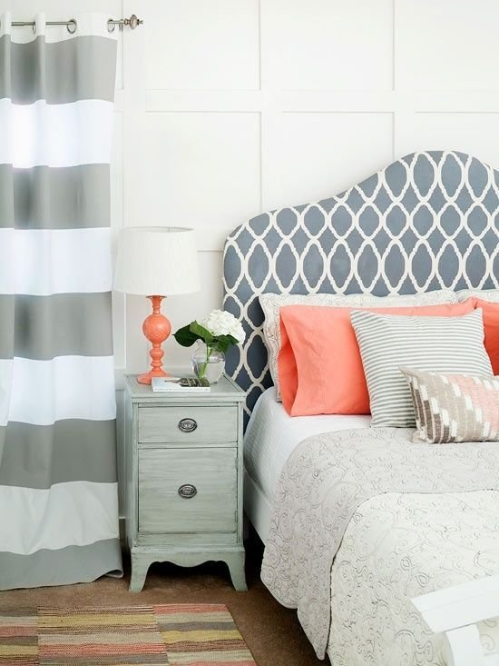 Best Contemporary Design Bedroom Grey And Coral Just Decorate With Pictures