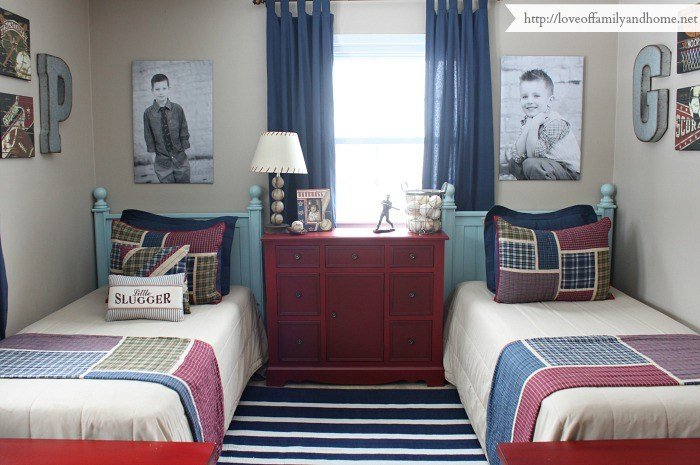 Best Boys Shared Bedroom Progress Love Of Family Home With Pictures