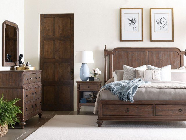 Best Weatherford Heather Westland Storage Bedroom Set From With Pictures