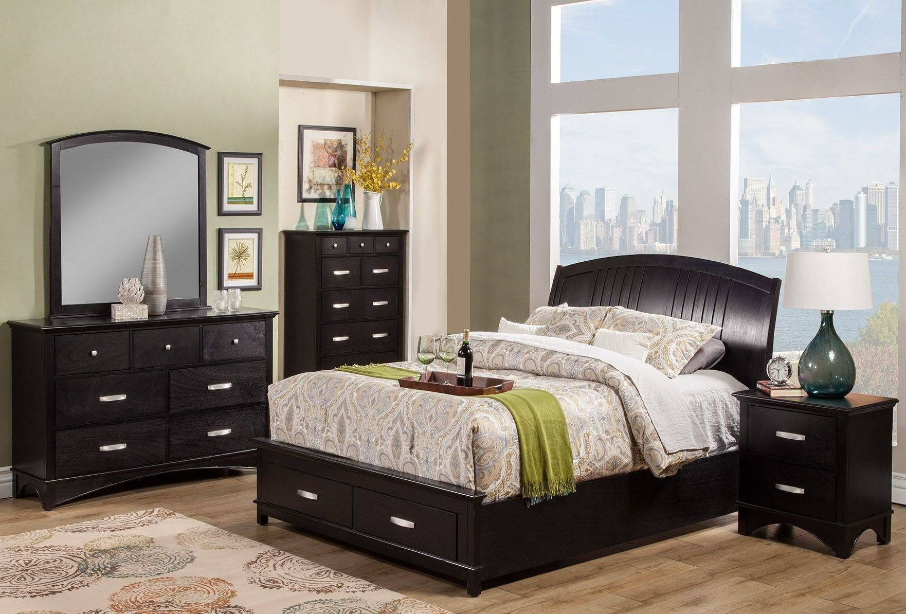 Best Madison Espresso Storage Bedroom Set From Alpine Coleman With Pictures