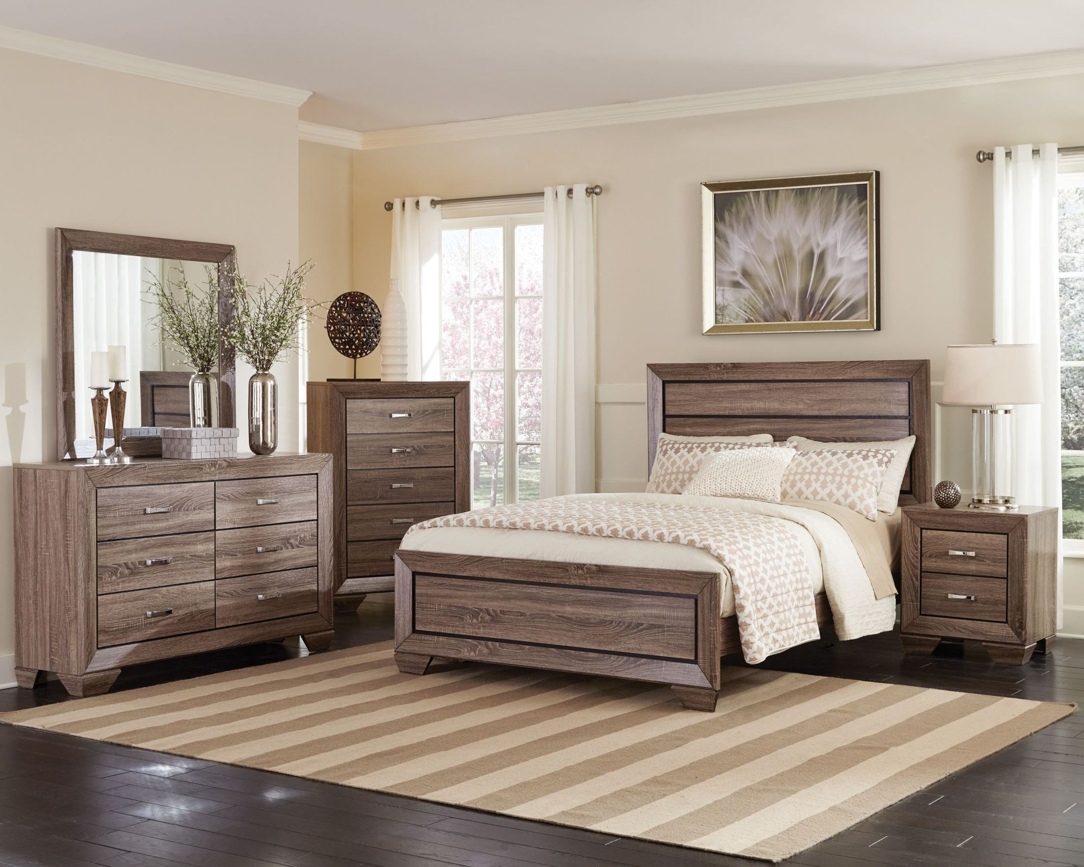 Best Kauffman Washed Taupe Panel Bedroom Set From Coaster With Pictures Original 1024 x 768