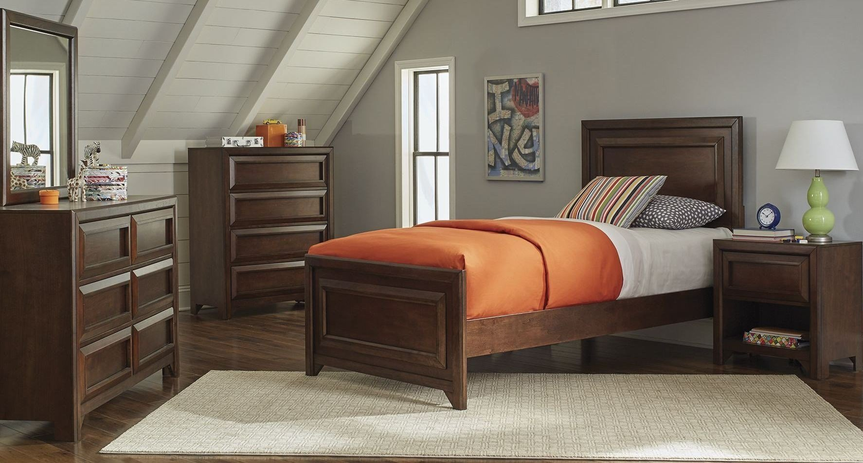 Best Greenough Maple Oak Youth Panel Bedroom Set From Coaster With Pictures