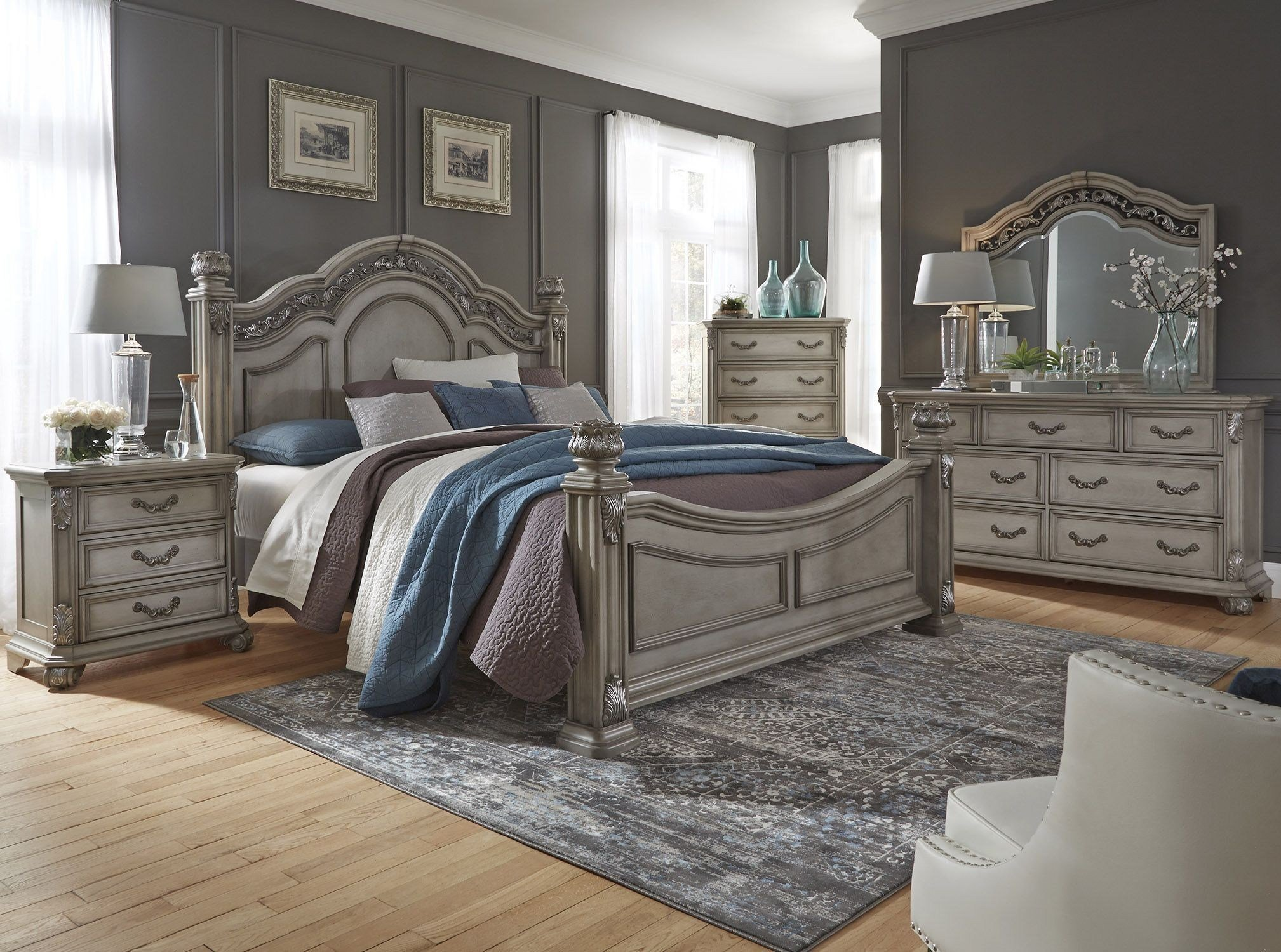 Best Messina Estates Bedroom Gray Poster Bedroom Set From Liberty Coleman Furniture With Pictures