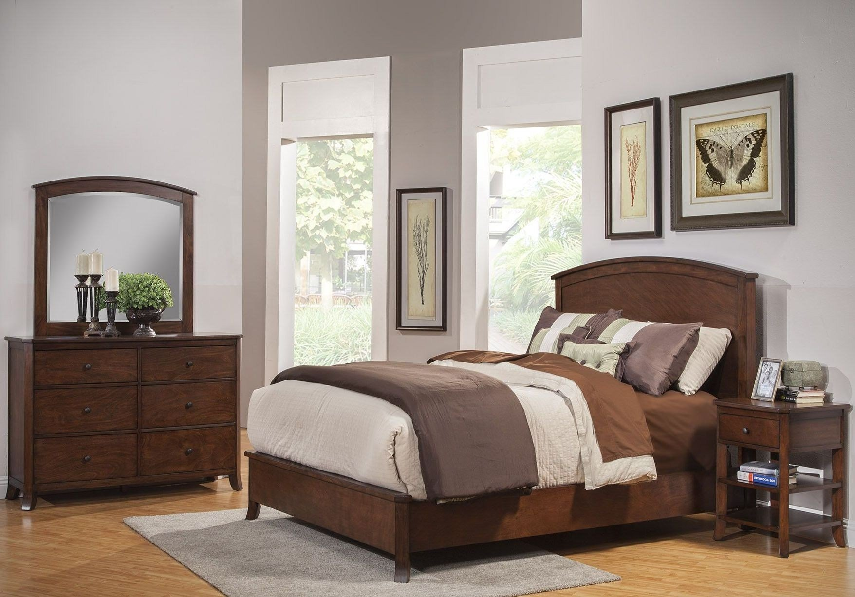 Best Baker Mahogany Panel Bedroom Set From Alpine Coleman With Pictures