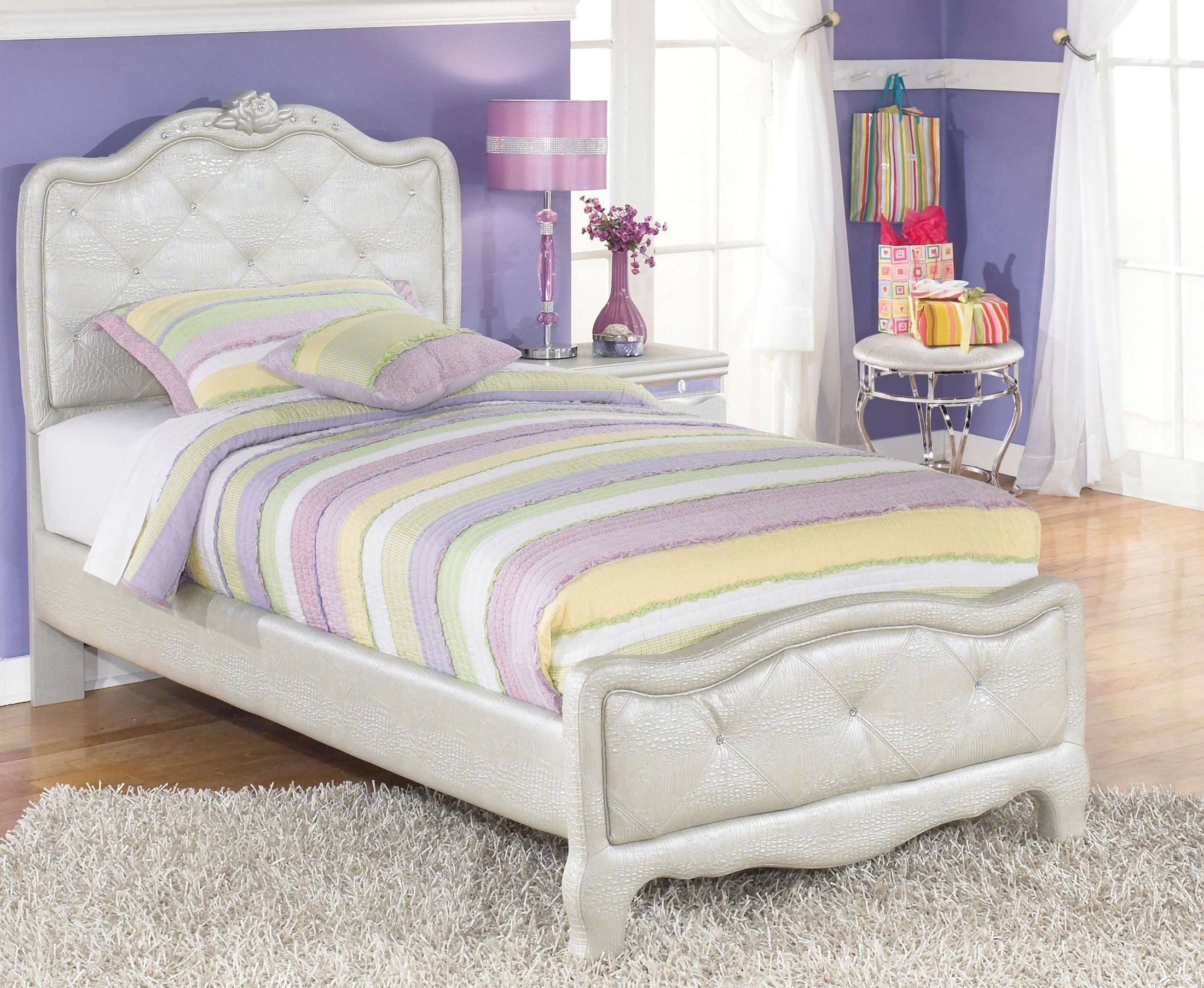Best Zarollina Youth Upholstered Bedroom Set From Ashley B182 With Pictures