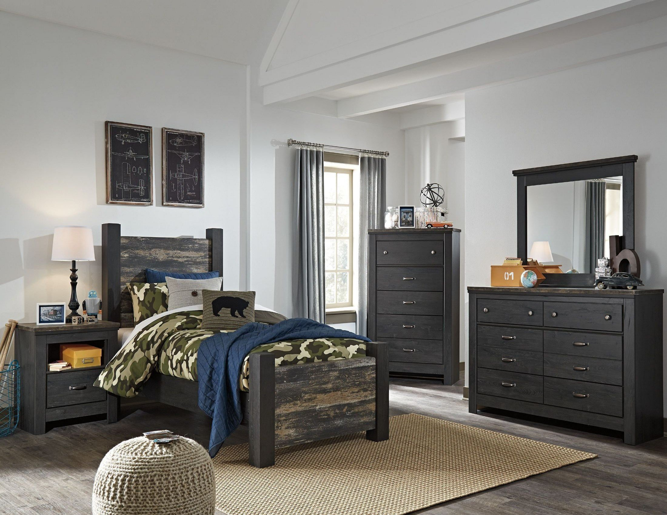 Best Westinton Black And Brown Youth Poster Bedroom Set From Ashley Coleman Furniture With Pictures