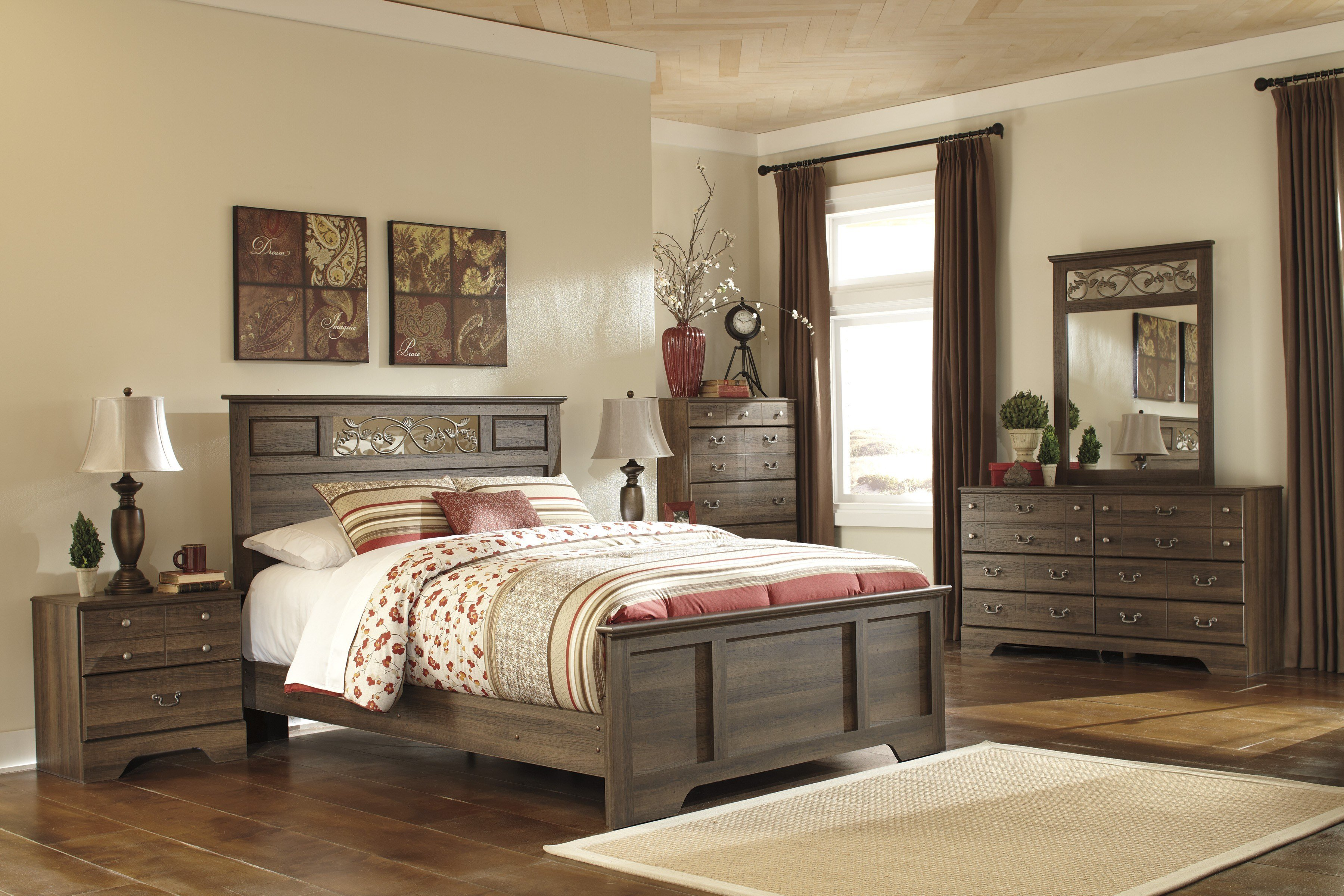 Best Allymore Panel Bedroom Set From Ashley B216 55 51 98 Coleman Furniture With Pictures