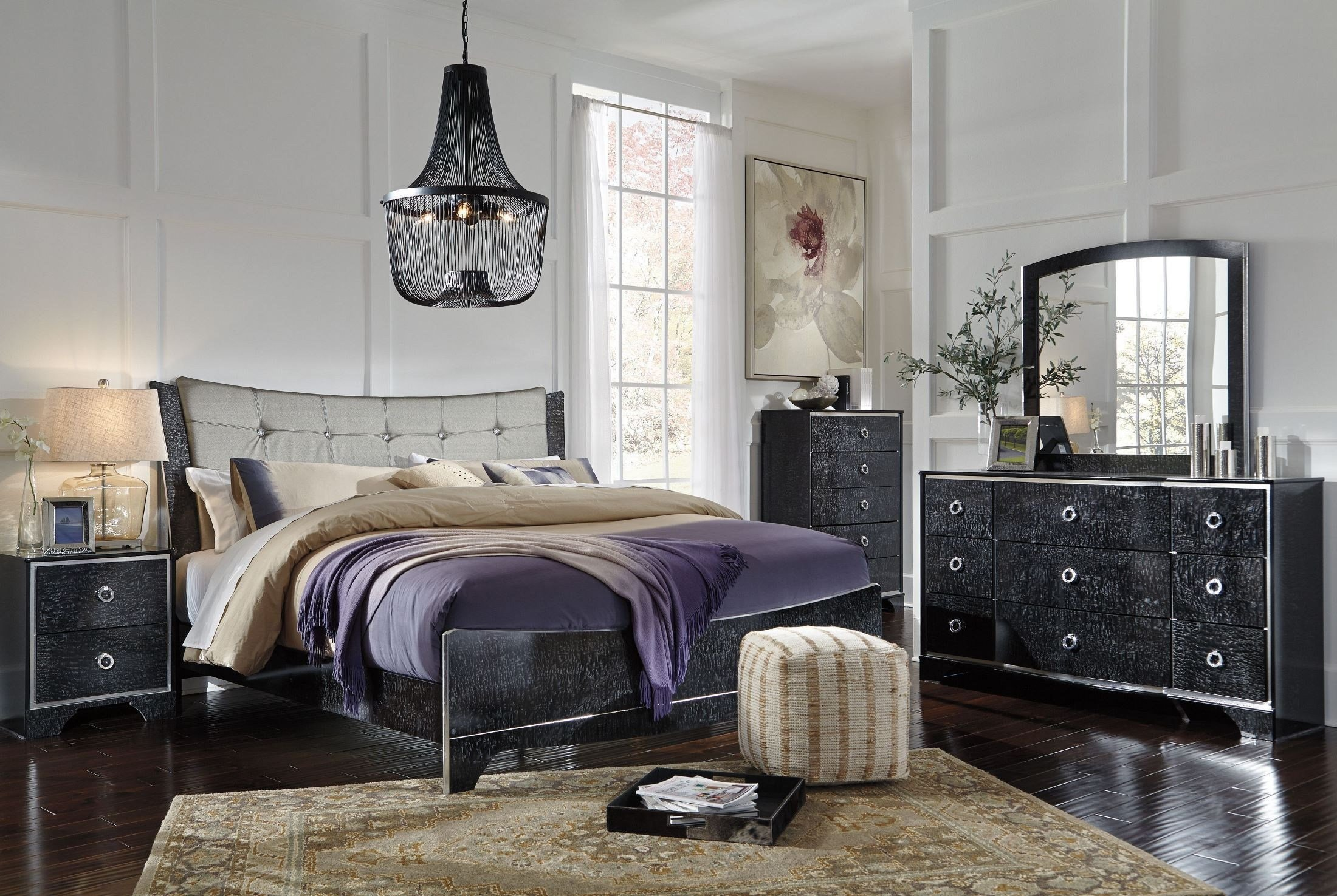Best Amrothi Black Panel Bedroom Set From Ashley Coleman With Pictures