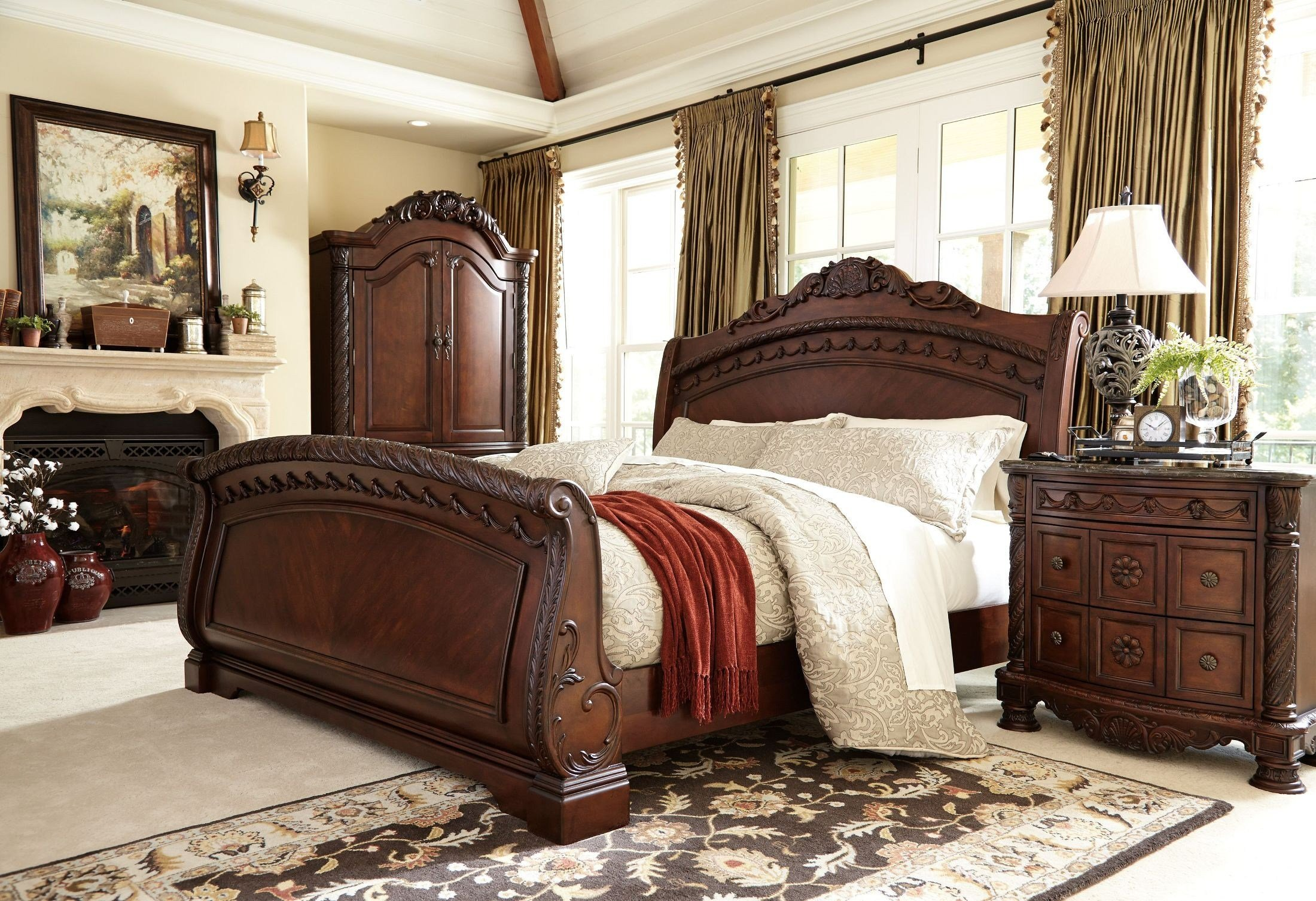 Best North Shore Sleigh Bedroom Set From Ashley B553 With Pictures Original 1024 x 768