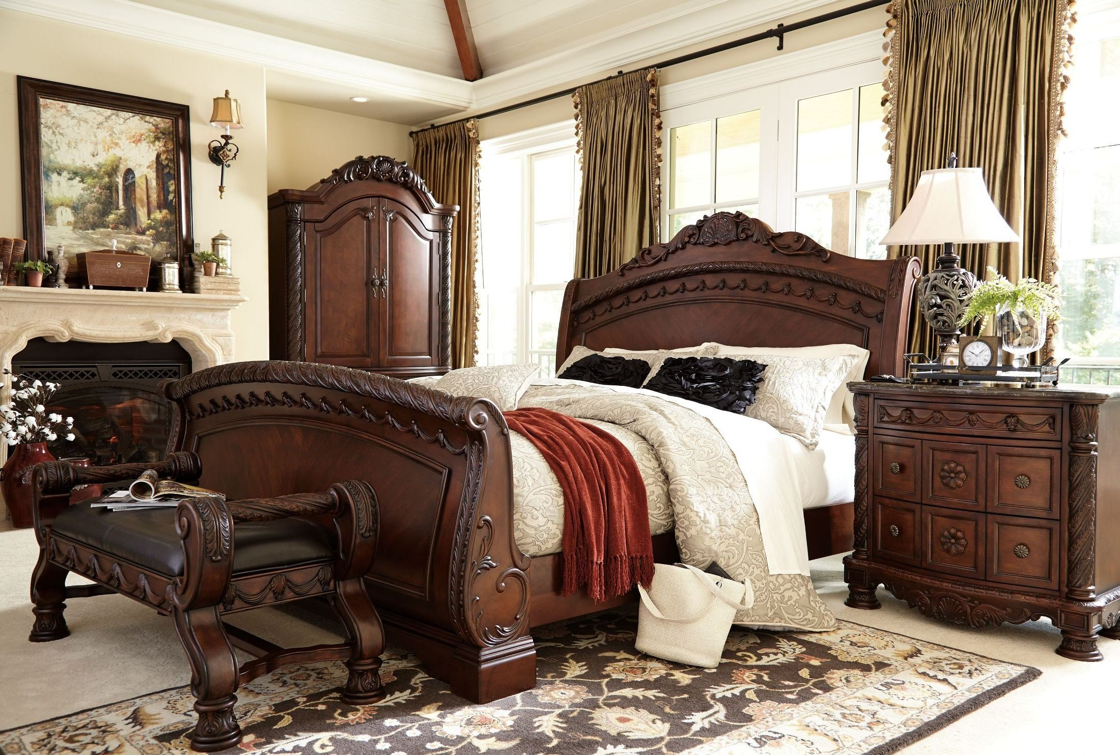 Best North Shore Queen Sleigh Bed From Ashley B553 77 74 75 With Pictures