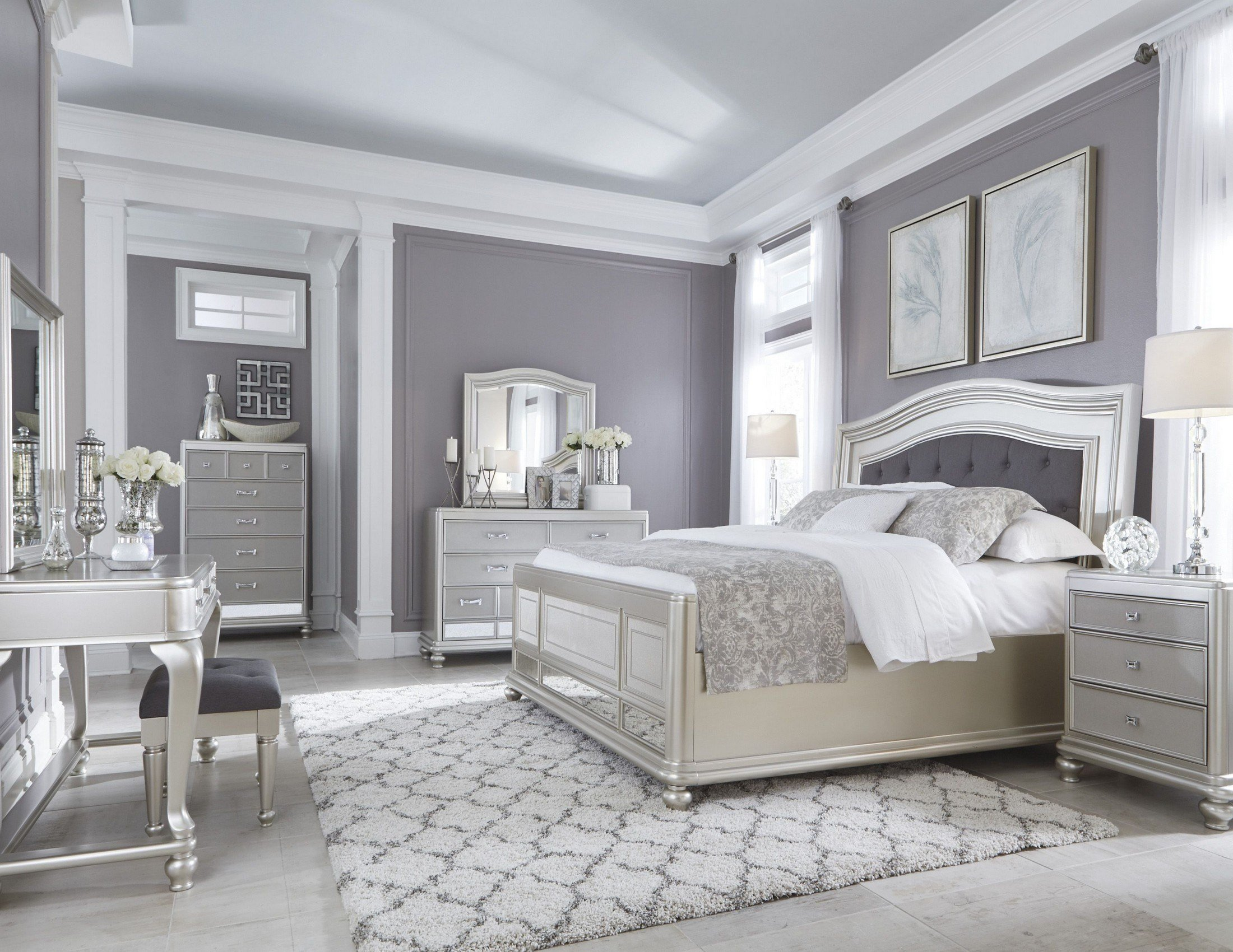 Best Coralayne Silver Bedroom Set From Ashley B650 157 54 96 With Pictures
