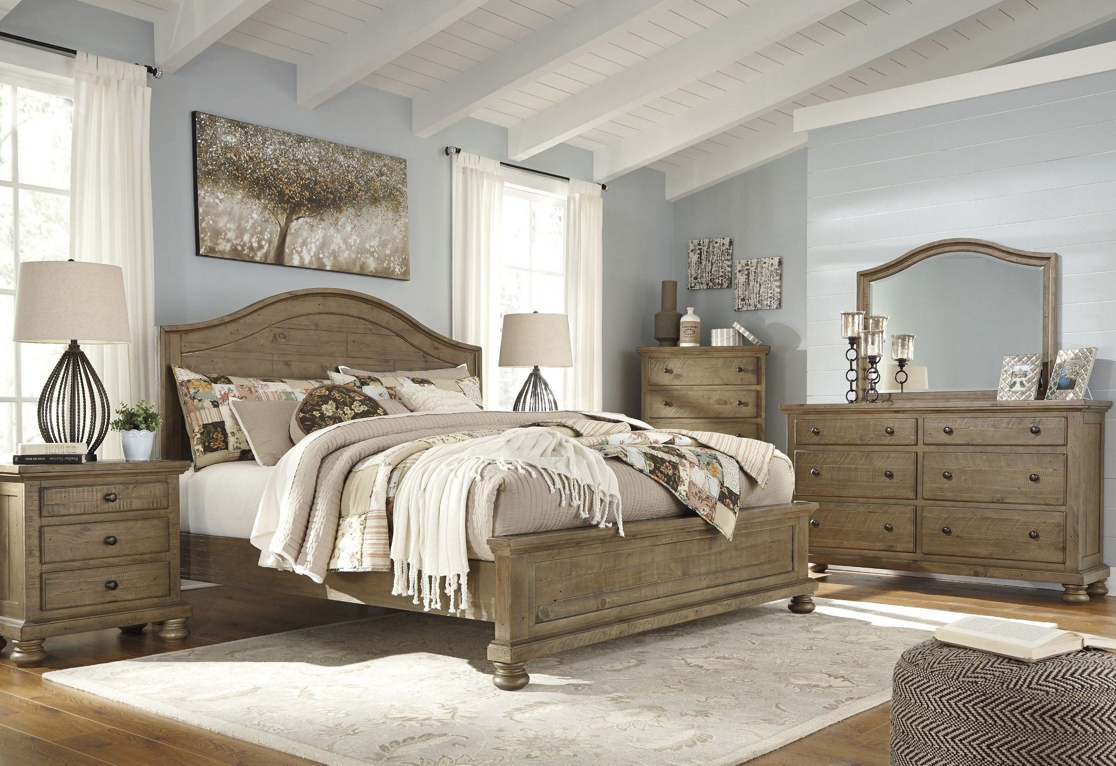 Best Trishley Light Brown Panel Bedroom Set From Ashley With Pictures