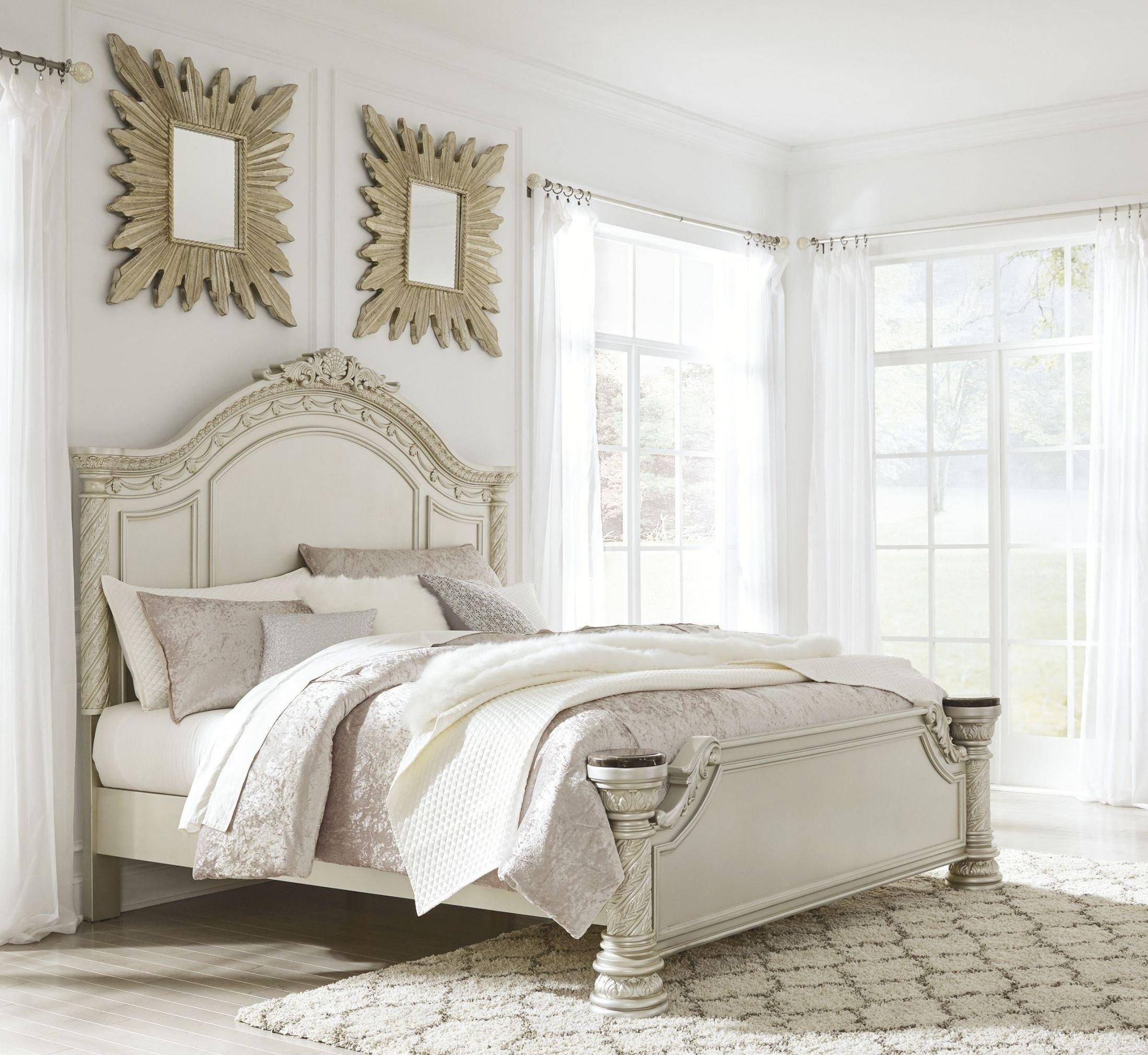 Best Cassimore North Shore Pearl Silver Panel Bedroom Set From With Pictures