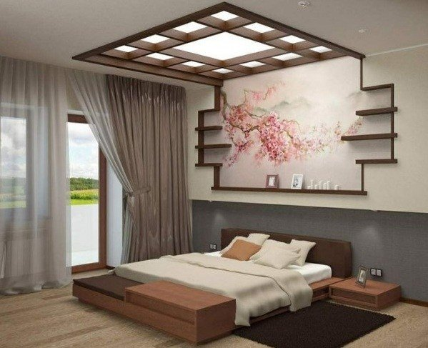 Best Colorful Japanese Bedroom Style With Big Mirror With Pictures