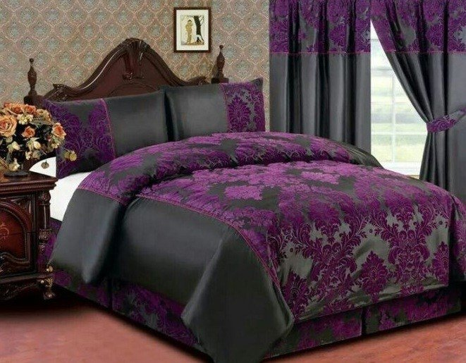 Best Purple Vintage Bedroom With Floral Pattern Decolover Net With Pictures