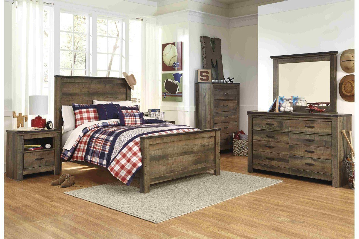 Best Bedroom Sets Trinell Full Bedroom Set Newlotsfurniture With Pictures