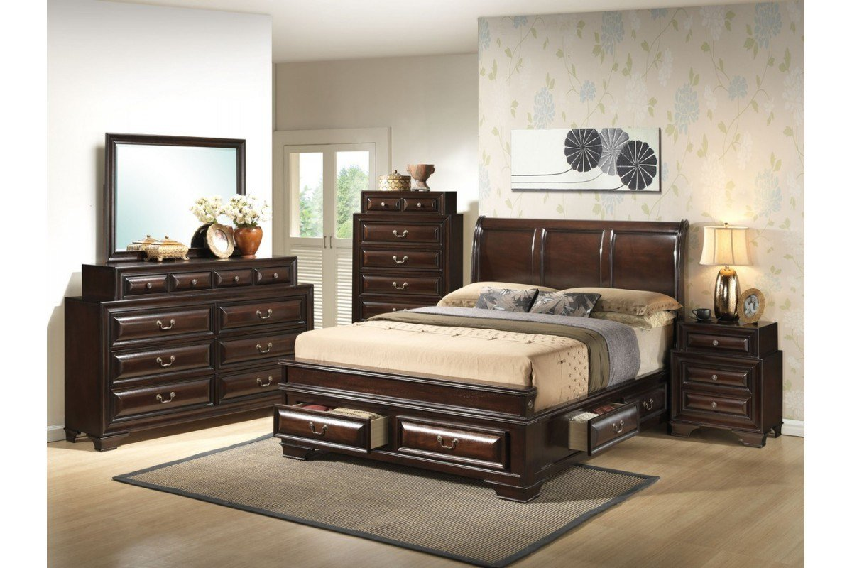 Best Bedroom Sets South Coast Cappuccino Queen Size Storage With Pictures