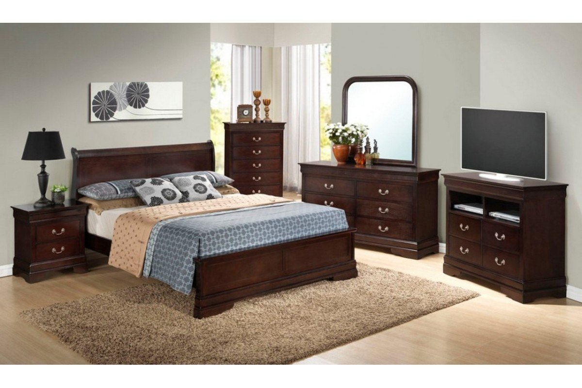 Best Bedroom Sets Dawson Cappuccino Queen Size Platform Look With Pictures