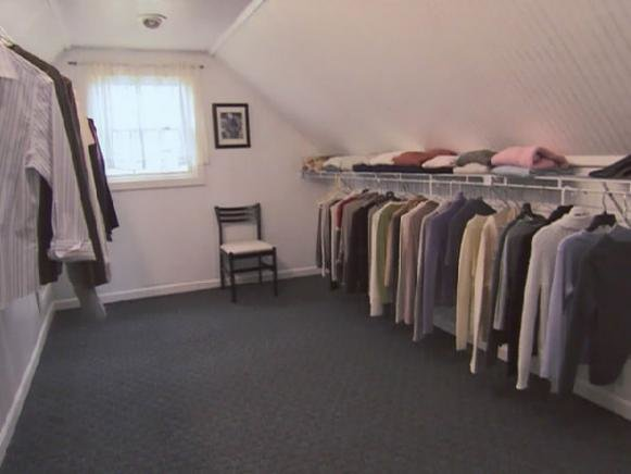 Best Turn An Unfinished Attic Into A Walk In Closet Hgtv With Pictures