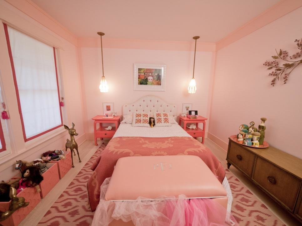 Best Girly Retro Inspired Pink Bedroom Hgtv With Pictures