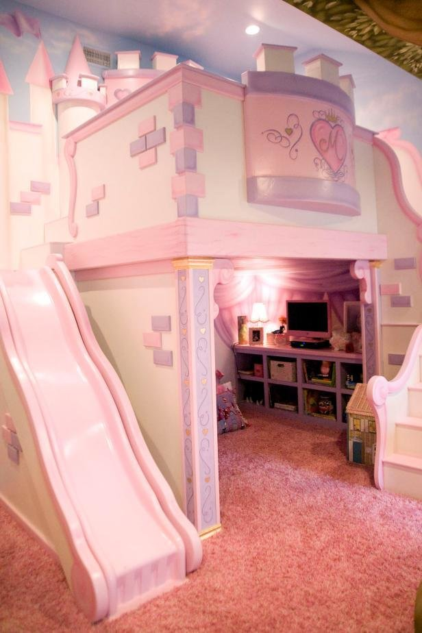 Best Girl S Room With Custom Princess Castle Bed Hgtv With Pictures