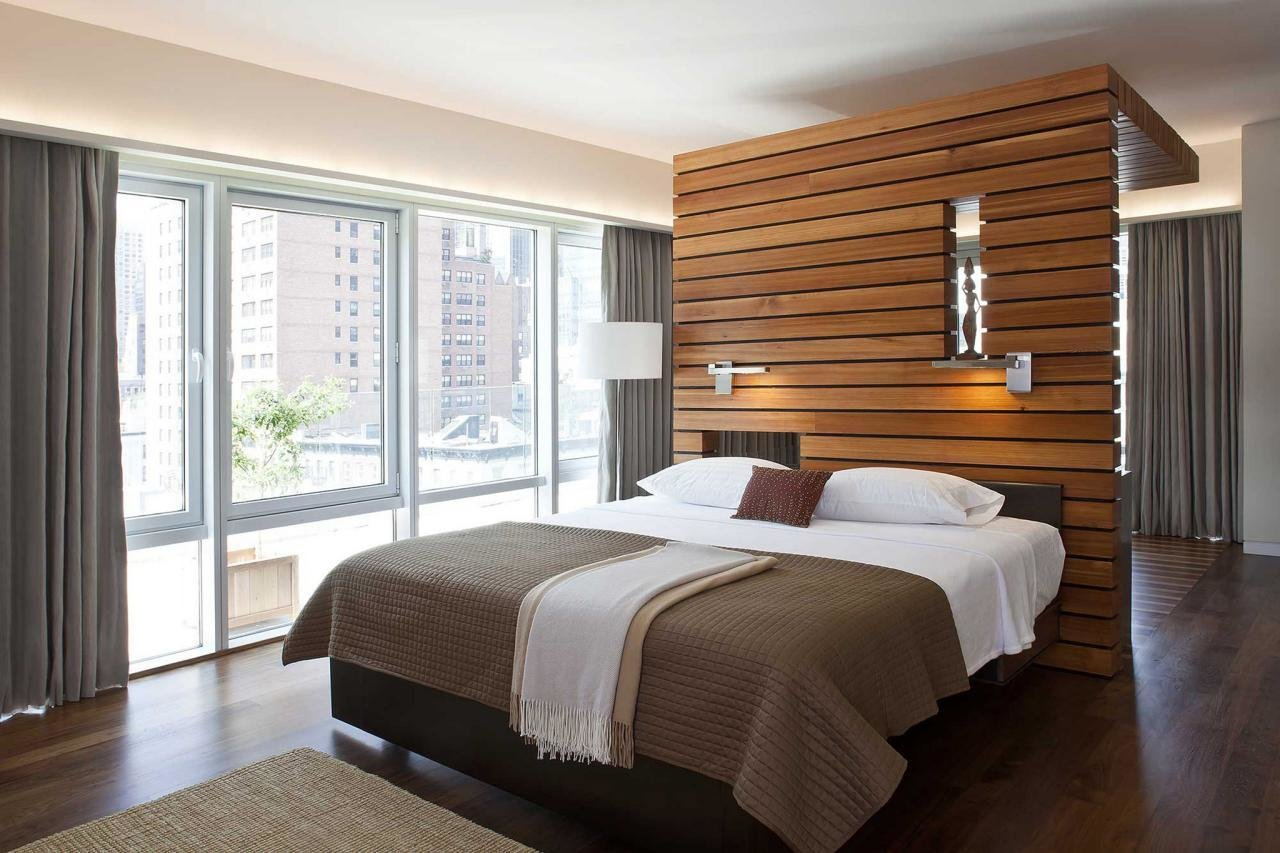 Best Urban Modern Bedroom With Wood Slat Partition Wall Hgtv With Pictures