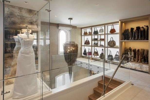 Best Two Story Walk In Closet With Built In Home Office 2015 With Pictures