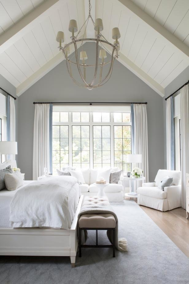 Best Transitional Neutral Master Bedroom With Vaulted Ceilings With Pictures