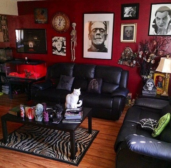 Best Black And Red Gothic Living Room With Pictures