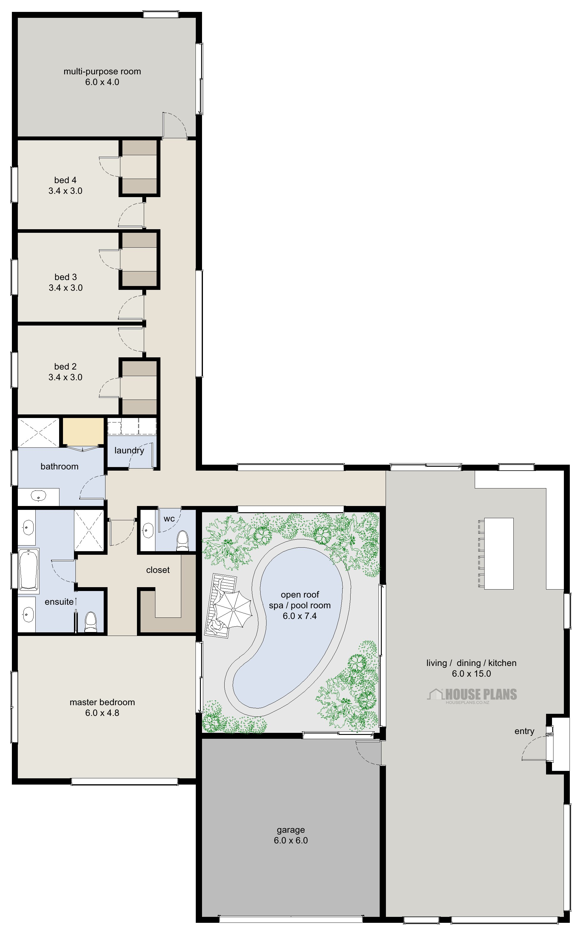 Best Zen Lifestyle 6 4 Bedroom House Plans New Zealand Ltd With Pictures