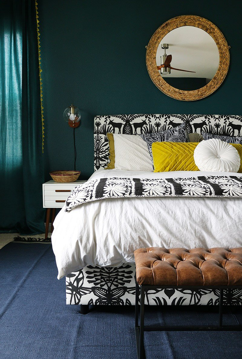 Best Dark Teal Bedroom Reveal Persia Lou With Pictures