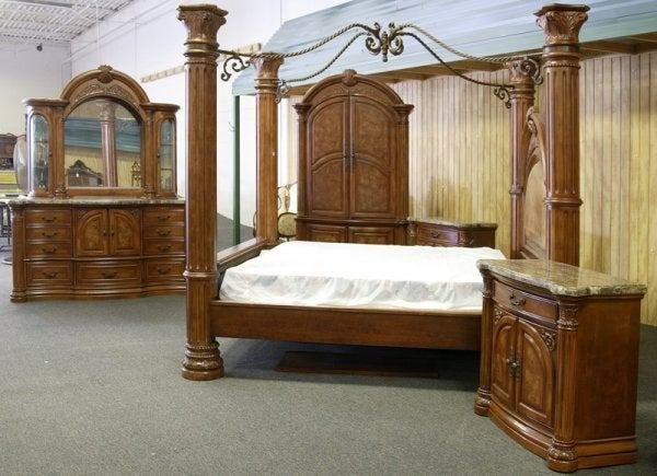 Best 12 Aico Monte Carlo Pecan Finish King Bedroom Set Lot 12 With Pictures