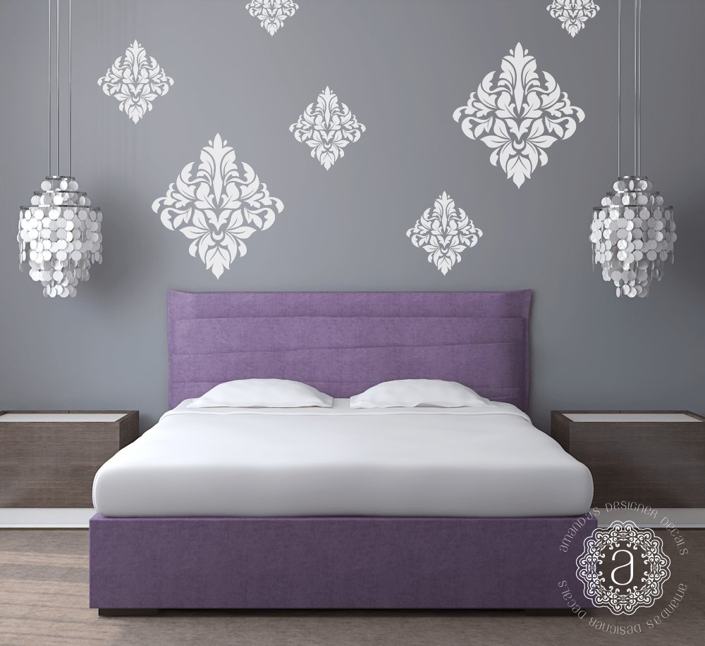 Best Damask Wall Decals Wall Decals For Bedroom Amandas With Pictures