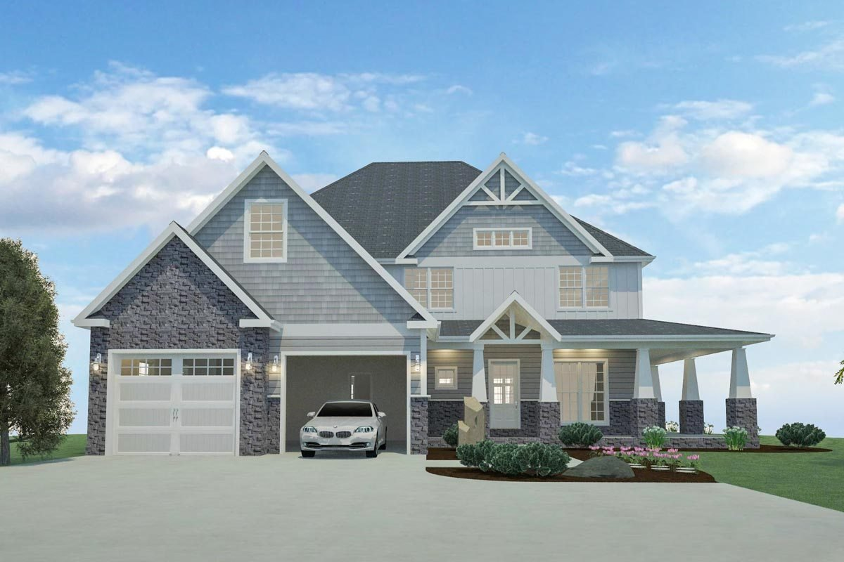Best 4 Or 5 Bedroom Home Plan With Wraparound Porch And Walkout Basement 77641Fb Architectural With Pictures