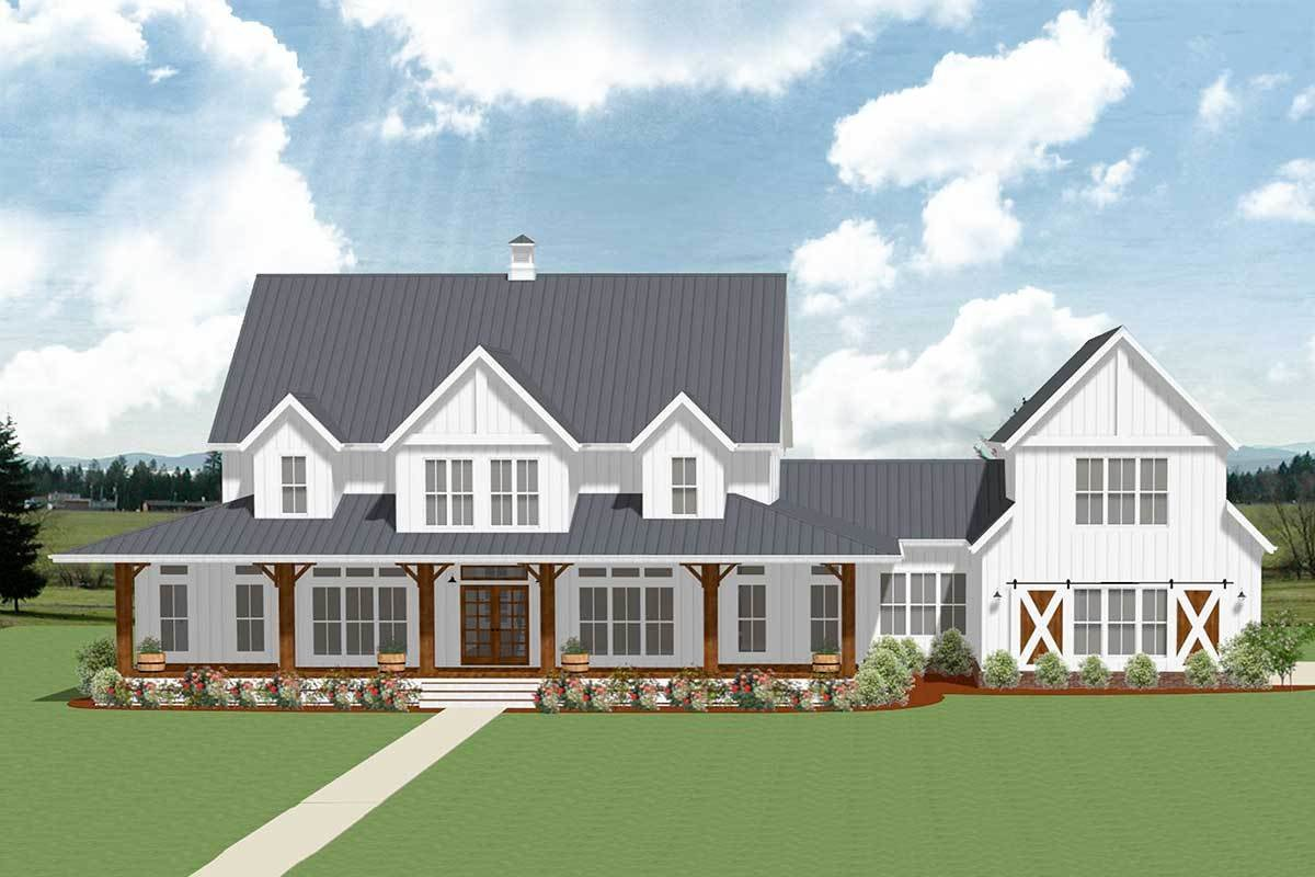 Best 5 Bedroom Farmhouse Plan With Optional Garage Loft With Pictures