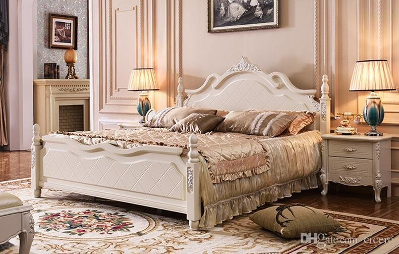 Best 2019 White Thailand Rubber Wood Solid Wood Bedroom With Pictures
