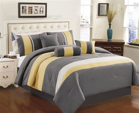 Best Yellow Grey White Simple Modern Bedding Sets – Ease With Pictures