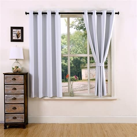 Best Thermal Insulated Grommet Top Window Short Blackout With Pictures
